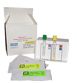 The BioCheck Powder Screening Test Kit